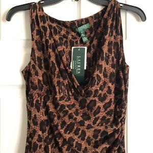 [Brand new!] Ralph Lauren Leopard Print Midi Dress